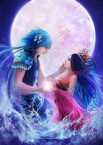 精灵梦叶罗丽:水王子与王默,最受欢迎的cp之一!图片